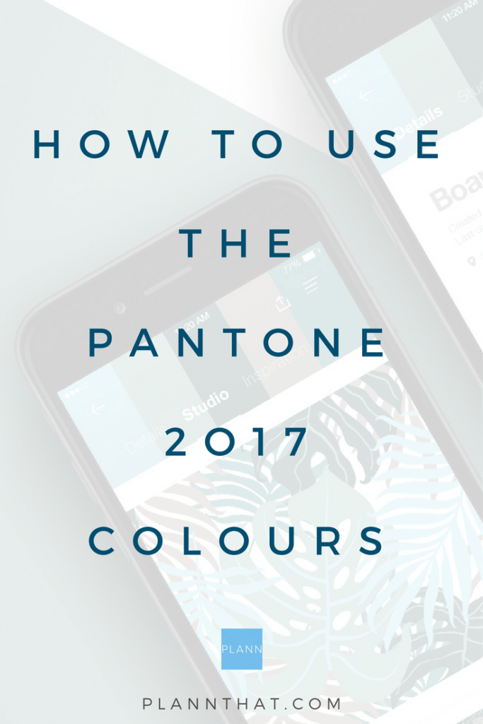 how to use the 2017 pantone colours