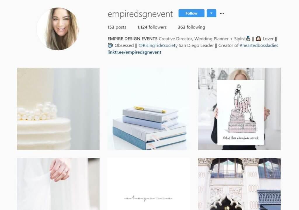 empire design events instagram bio