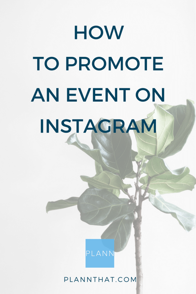 how to promote an event on instagram pinterest