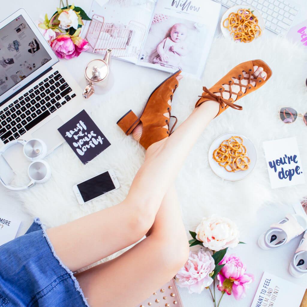 flatlay productivity hacks for creatives
