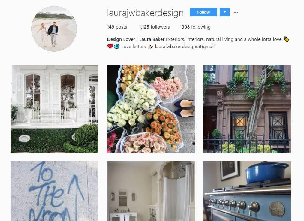 laura baker instagram bio