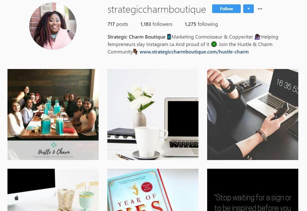 strategiccharmboutique instagram bio