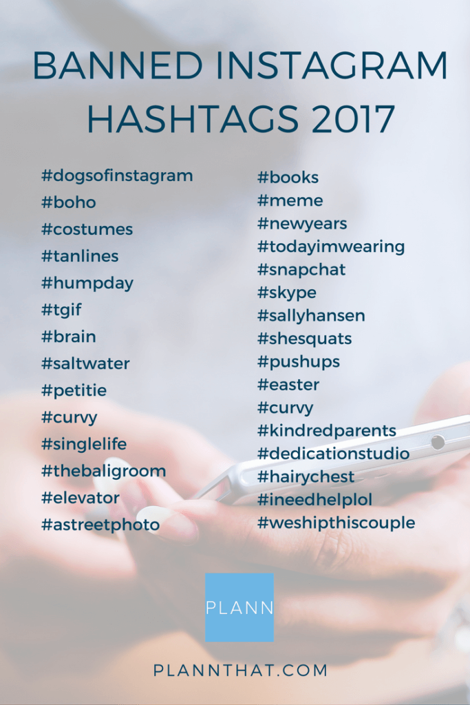Banned Instagram Hashtags 2017