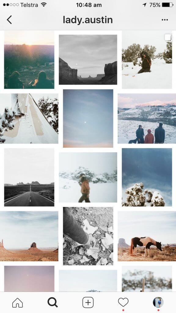 white border Instagram Layout