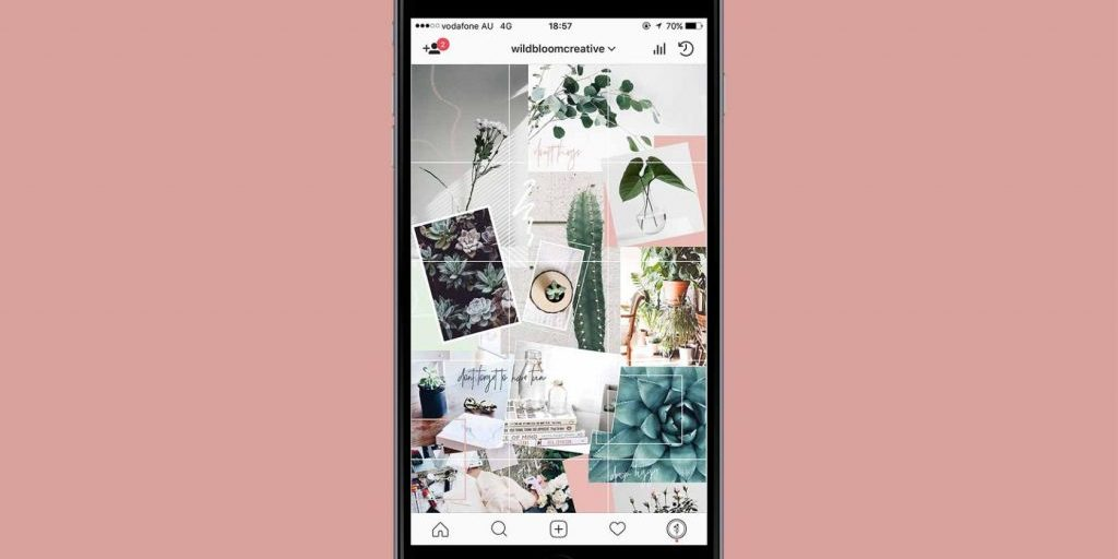 7 instagram grid layouts with examples you can try for yourself plann. Black Bedroom Furniture Sets. Home Design Ideas