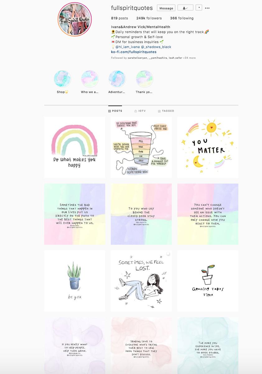 instagram grid layout sample