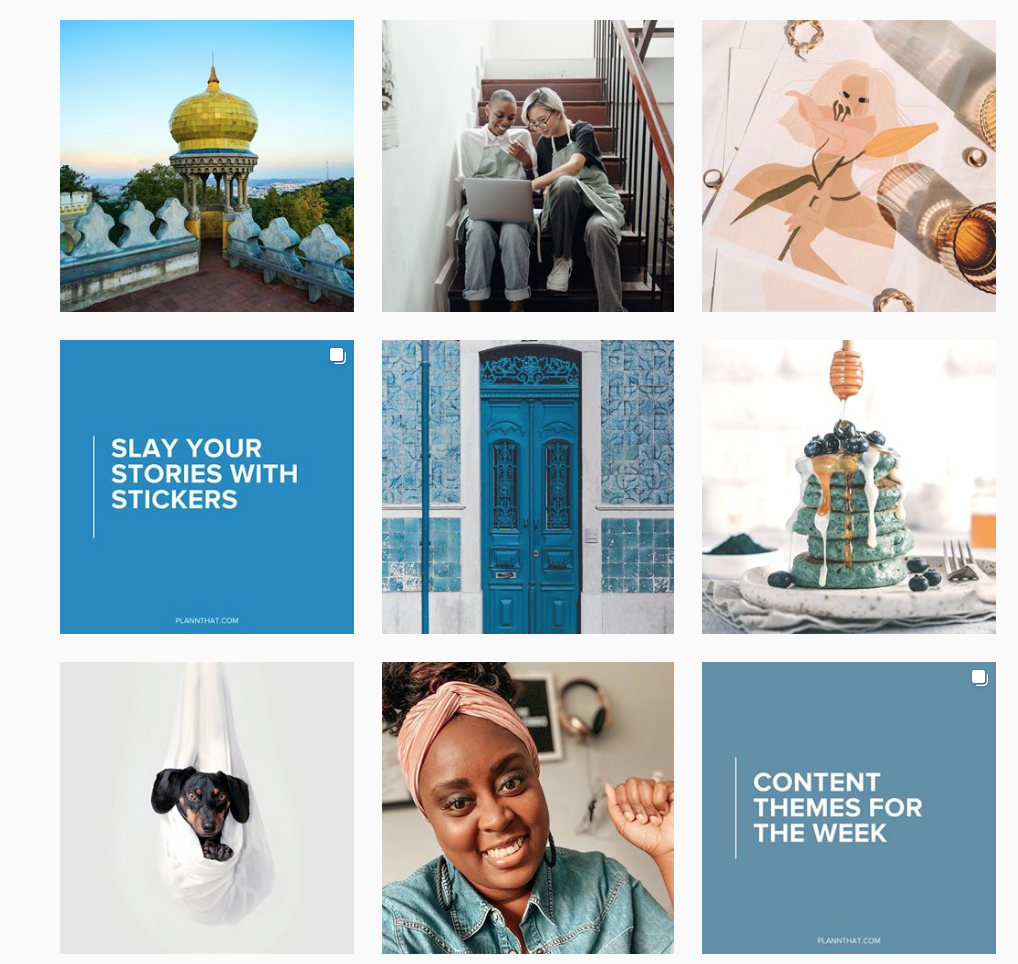 instagram layout strategic grid