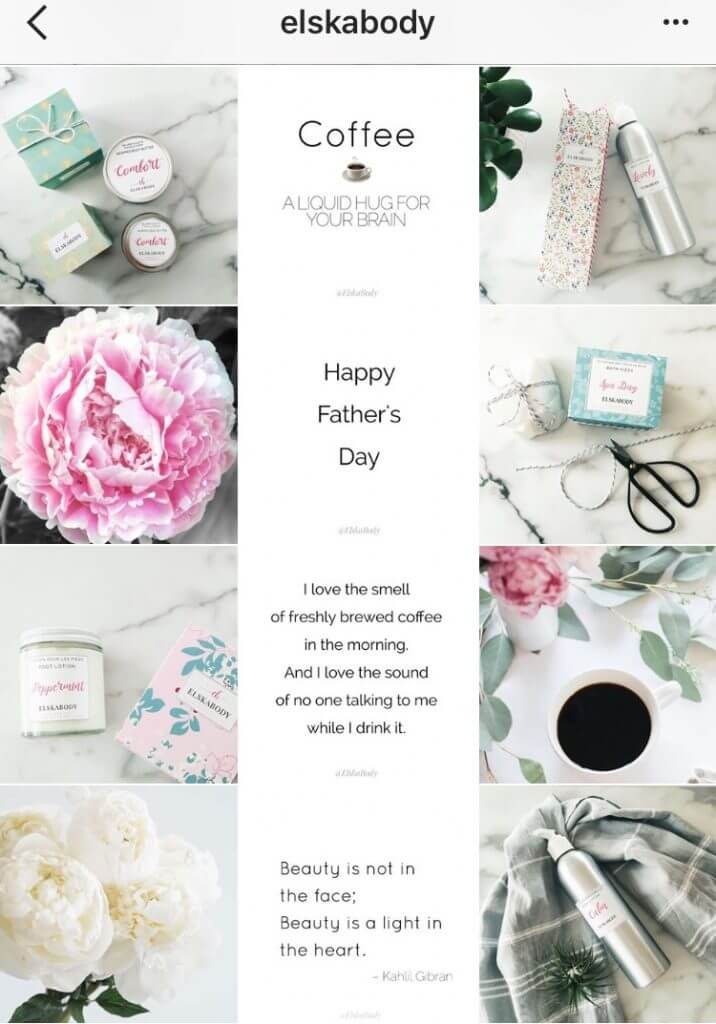 Instagram creative layouts