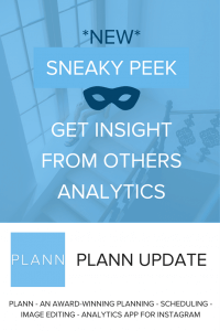 Look at others instagram analytics - Plann App