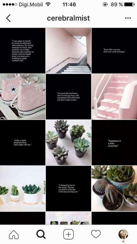 20 floral instagram feed theme