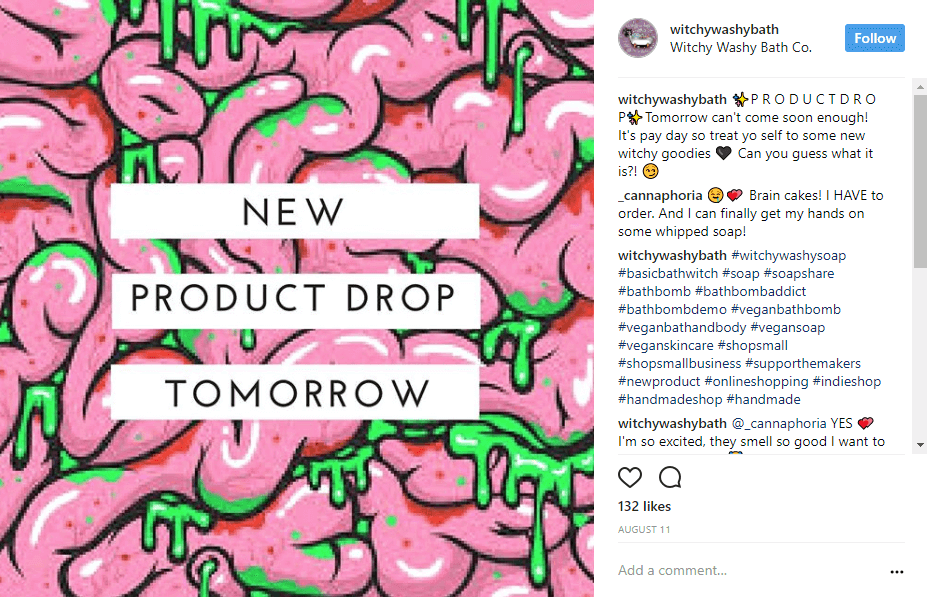 product-drop-call-to-action-instagram