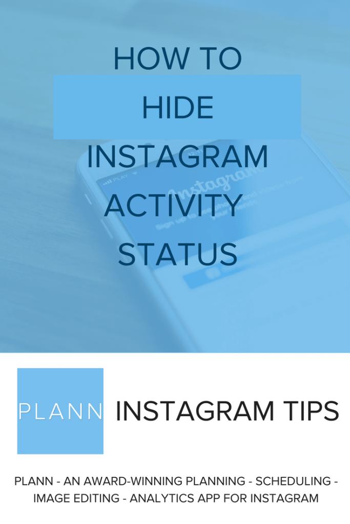 hide Instagram activity status