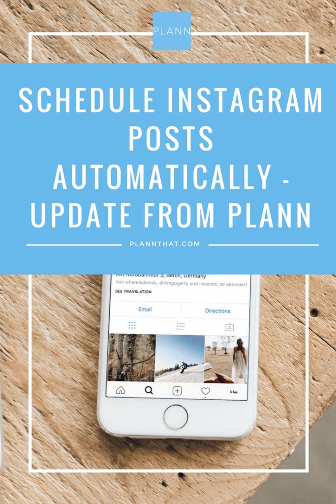schedule Instagram posts automatically