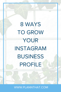 grow your Instagram business profile