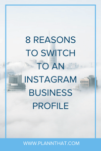 switch to an Instagram business profile