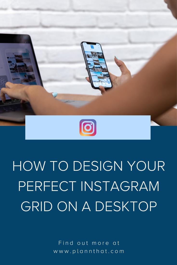 design instagram grid on desktop