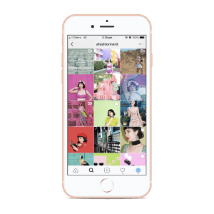 fashion Instagram grid
