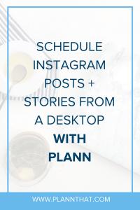 schedule Instagram posts from a desktop