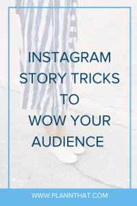 Instagram story tricks