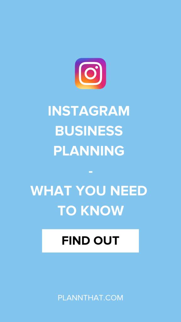 Instagram Business Planning