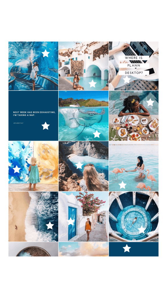 Plann Instagram grid
