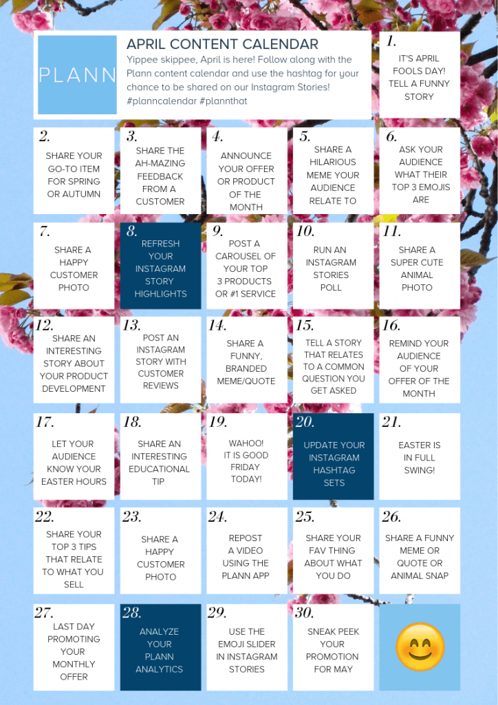 Download Your Free 30-Day Instagram Content Calendar