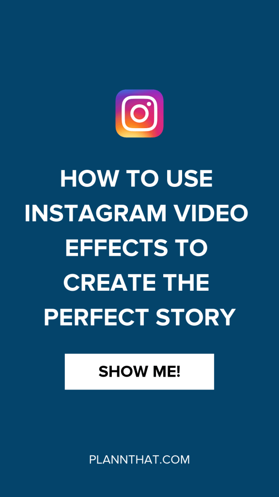 How to use instagram video effects