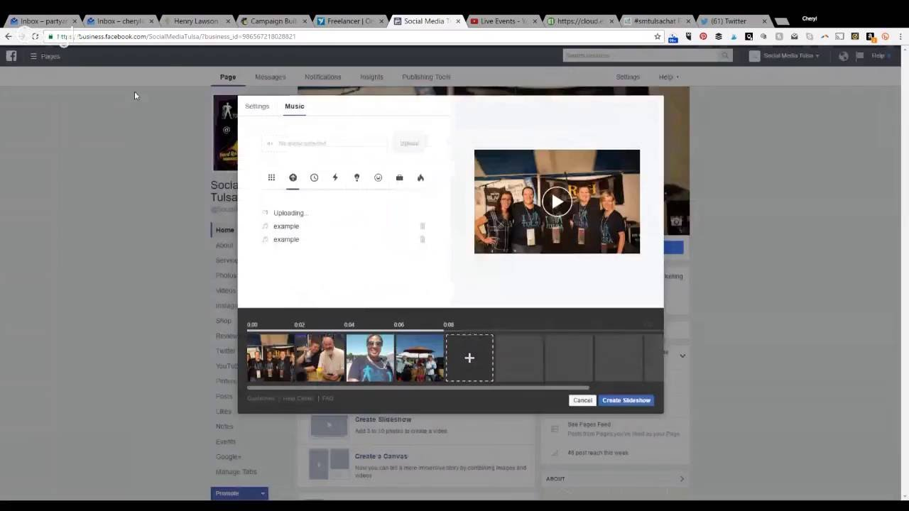 how to add music to your facebook slideshow