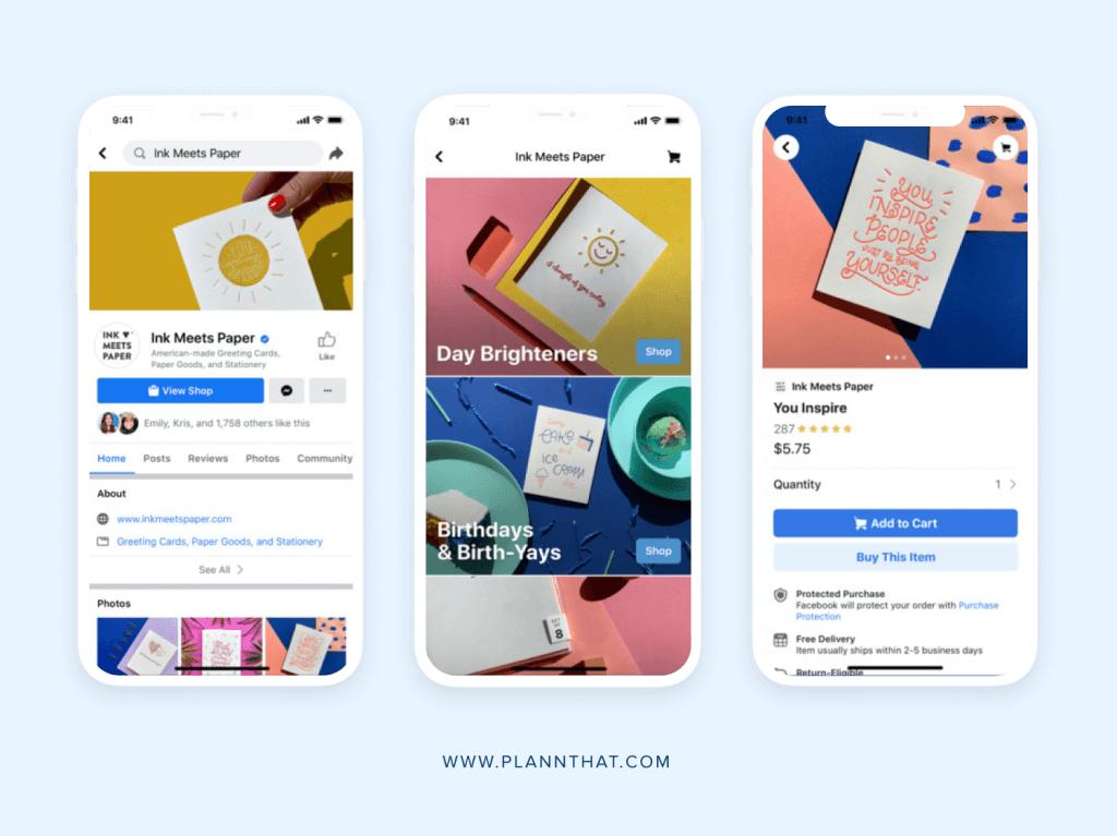 Instagram and Facebook release shops