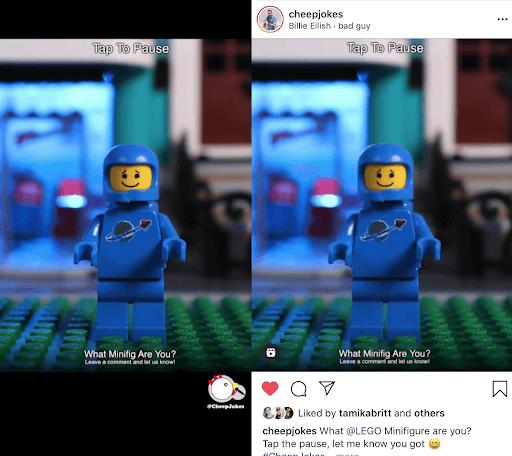 instagram reels sample
