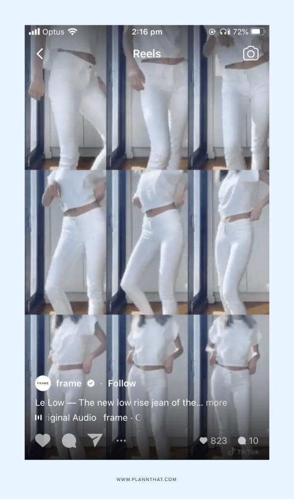 frame reels account