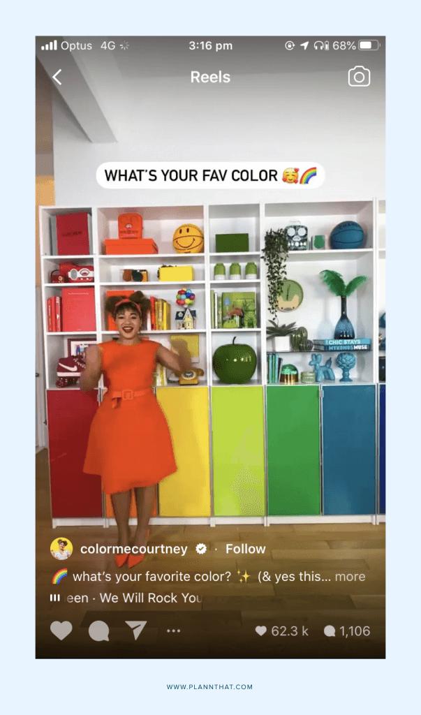 color me courney instagram reels