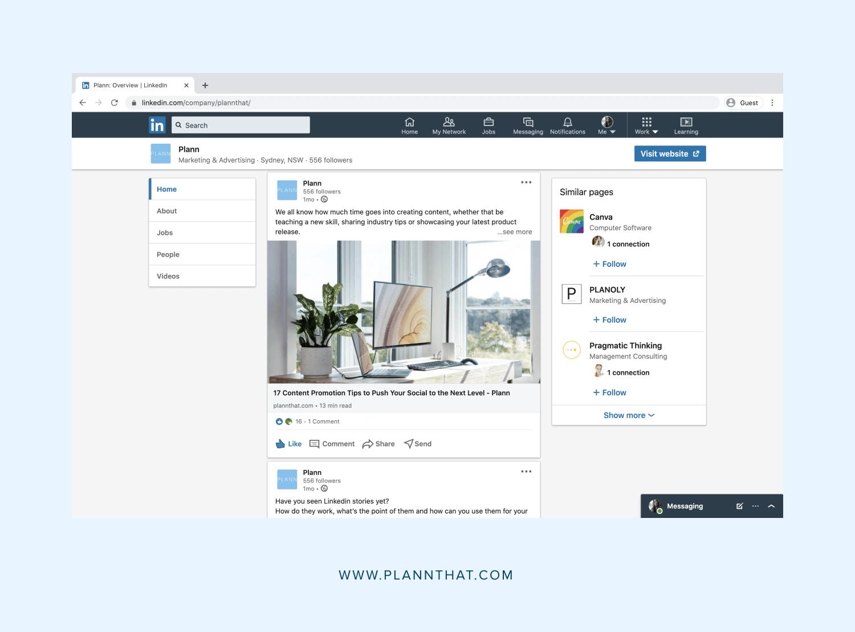 publish content in linkedin