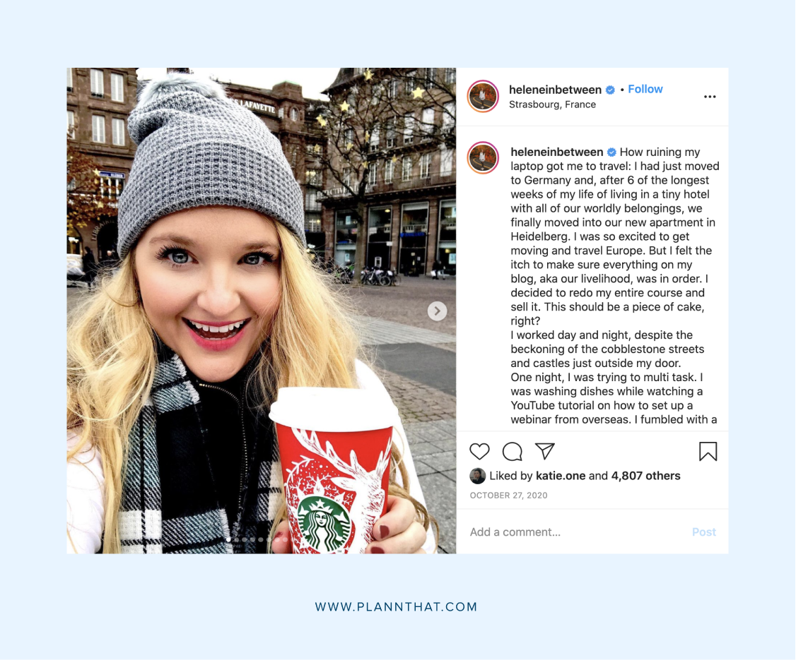 Instagram caption ideas for travel