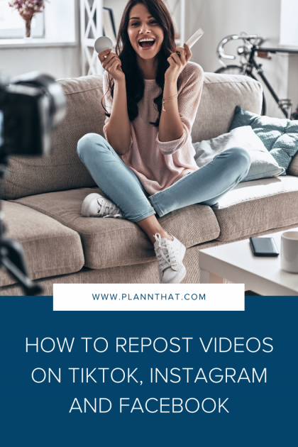 How to Repost Videos on TikTok, Instagram and Facebook