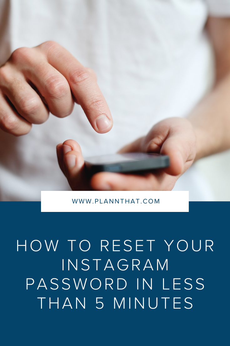 How to reset your Instagram password