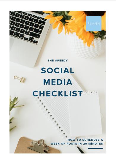 speedy social media checklist