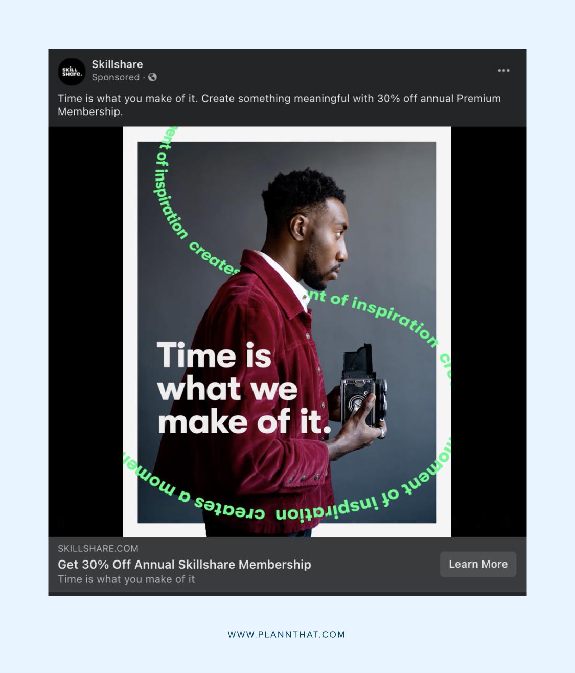 Slideshow Facebook ads