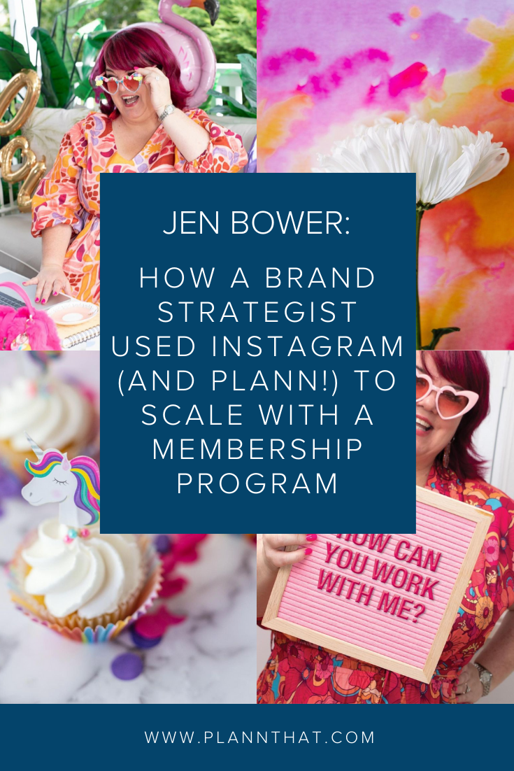 How a brand strategist used Instagram (and Plann!) to scale with a membership program
