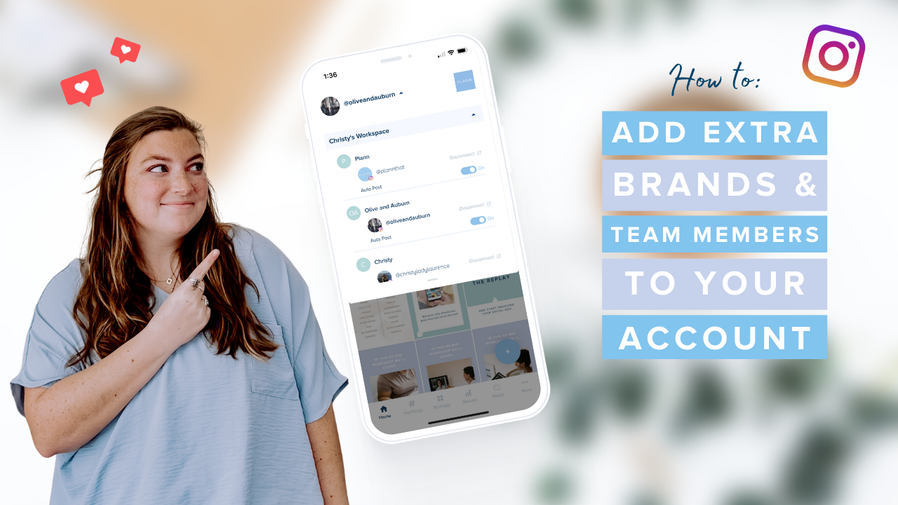 How to Add Extra Brands and Team Members to your Account on Plann