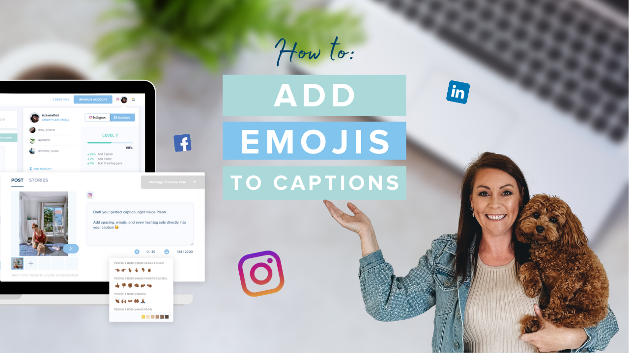 How to Add Emojis to Captions on Plann