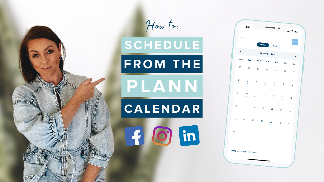 How to Schedule from the Plann Calendar