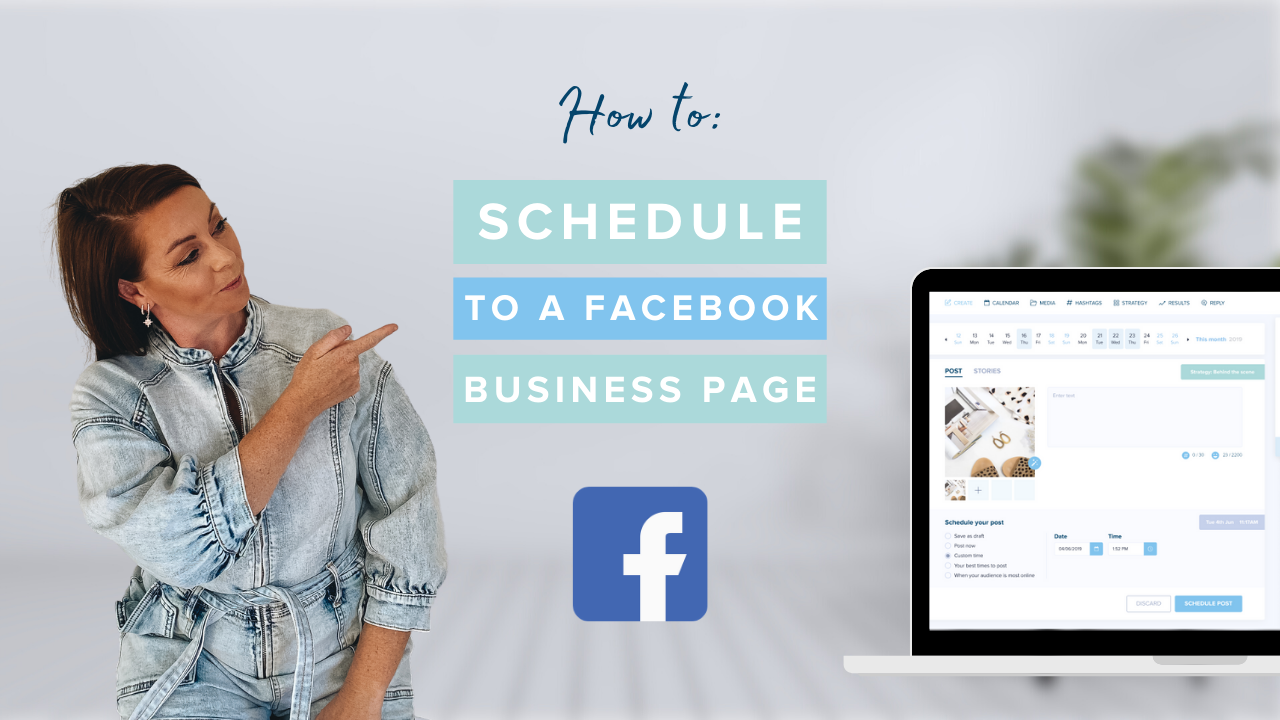 How to Schedule to a Facebook Business Page
