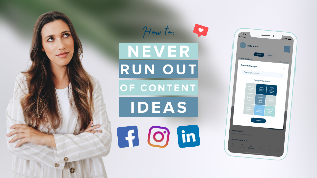 Never Run Out of Content Ideas with Plann