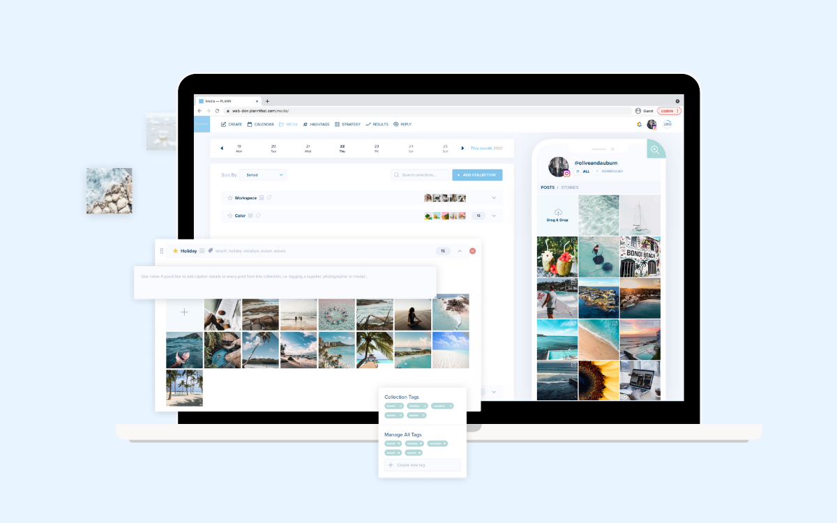 Plann Social Media Manager Media Collections
