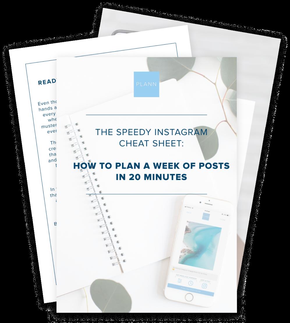 The Speedy Instagram Cheat Sheet