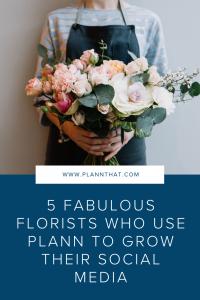 Grow florist Instagram account