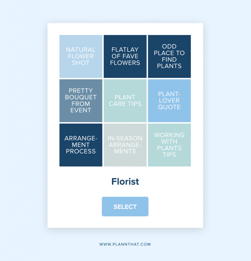 florist content prompts