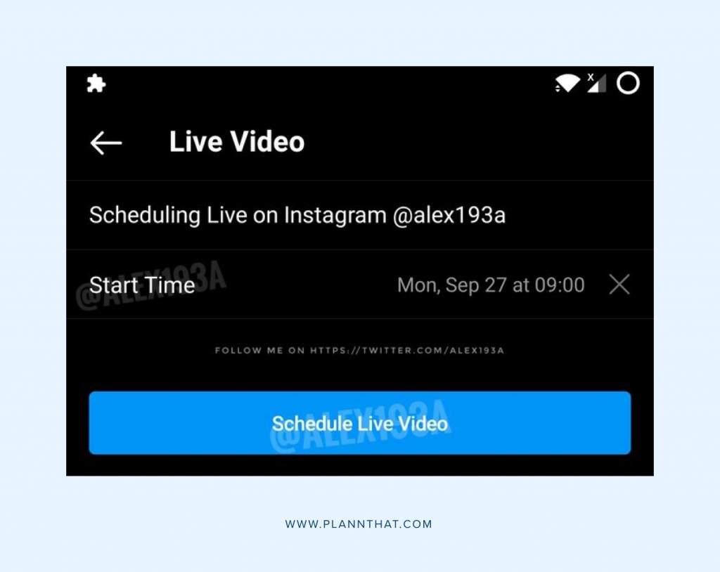 Instagram Scheduling Lives