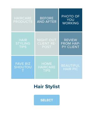 hair stylist content calendar